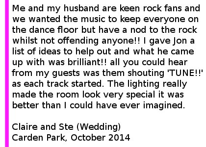 Carden Park Wedding Feedback
